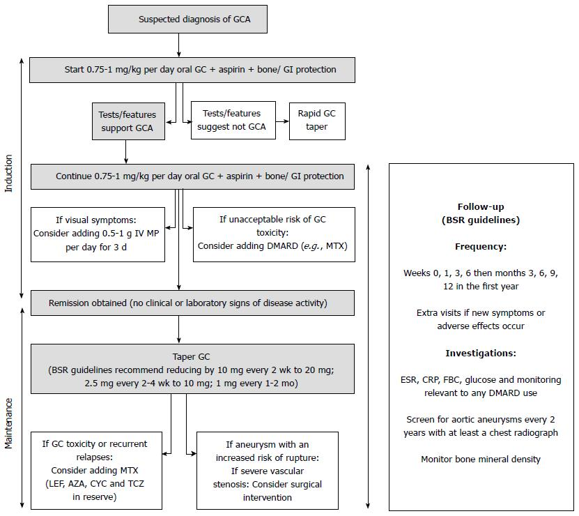 Giant cell arteritis: Current treatment and management
